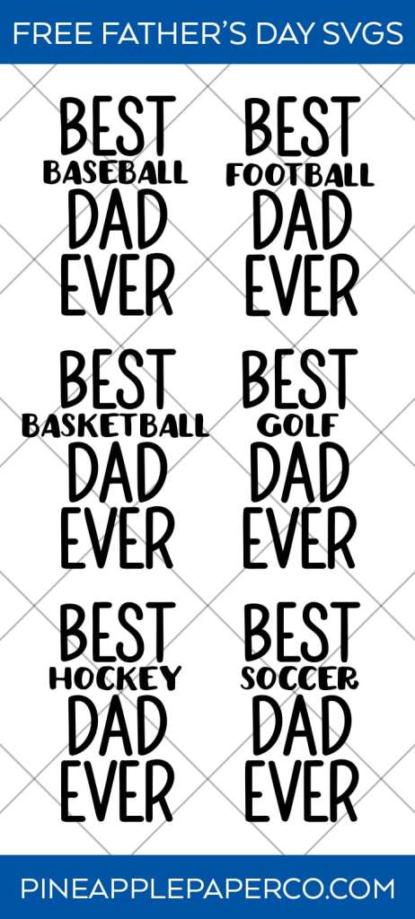 Father/'s Day design Best Dad Ever Commercial Use Digital Design SVG cut File for Cutting Machine files for Dad Silhouette Cricut