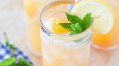 Bourbon Peach Lemonade Recipe by Pineapple Paper Co.