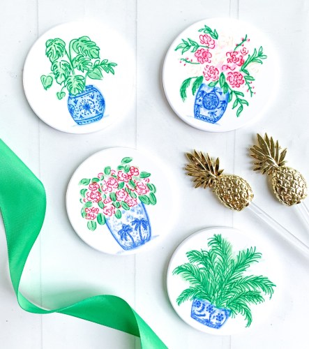 Cricut Infusible Ink DIY Watercolor Ceramic Coasters by Pineapple Paper Co.