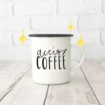 Free Accio Coffee SVG to Make a Harry Potter Coffee Mug