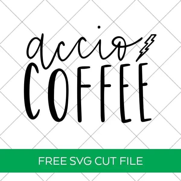 Accio Coffee Harry Potter SVG