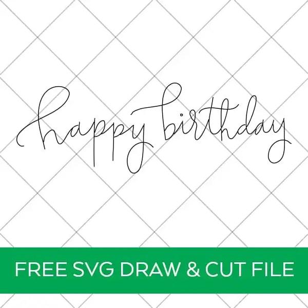 Happy Birthday SVG Foil Quill Design