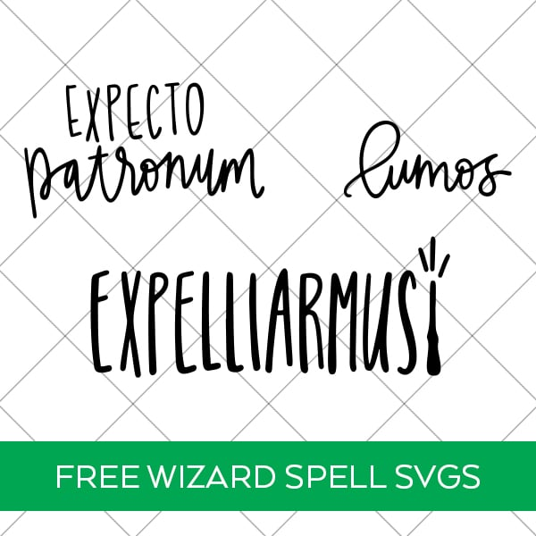 Free Harry Potter Spells SVG Cut Files for Cricut and Silhouette by Pineapple Paper Co.