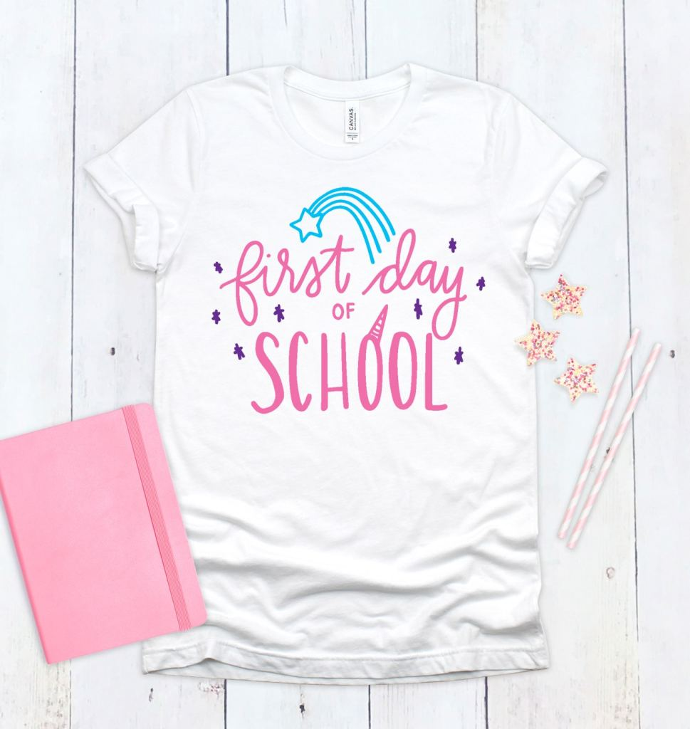 Free Unicorn First Day of School SVG for DIY Back to School Shirts by Pineapple Paper Co.