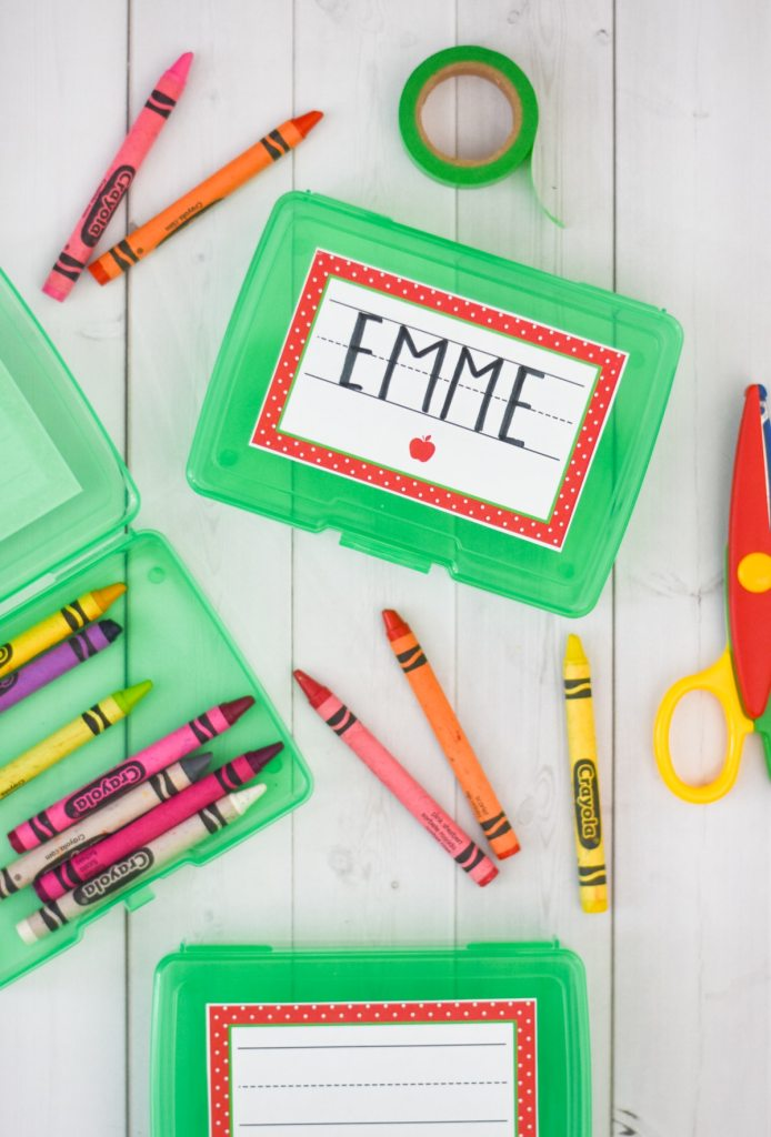 Free Printable School Labels by Pineapple Paper Co.
