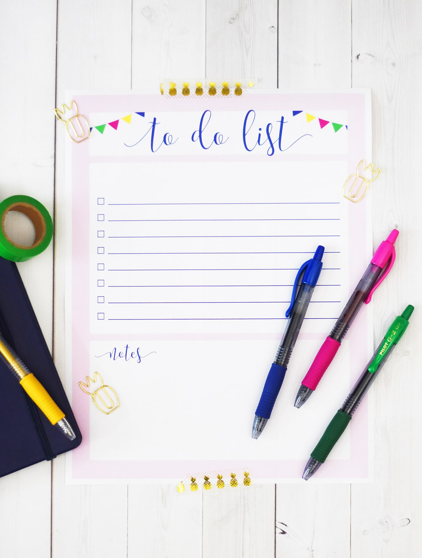 Printable To Do List with Pilot Pen