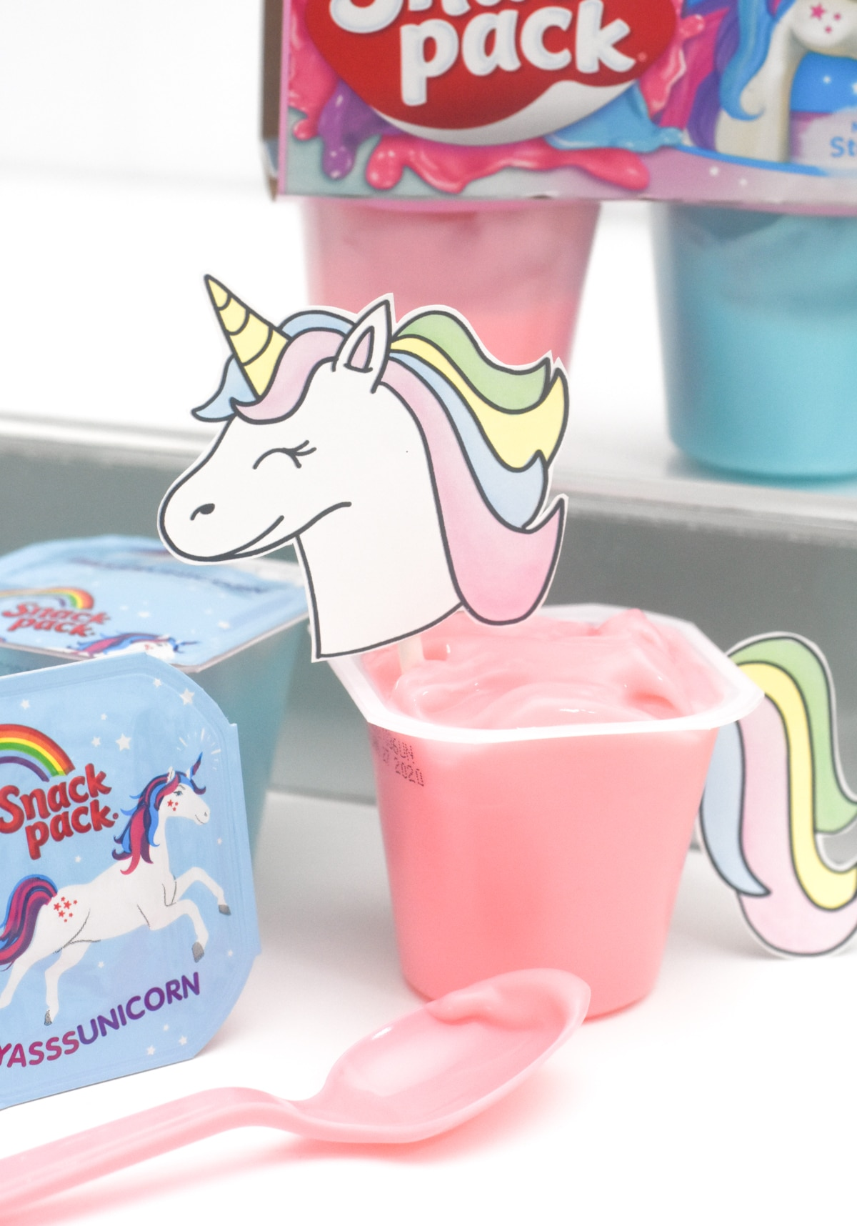 Unicorns & Dragons Snack Pack Printables