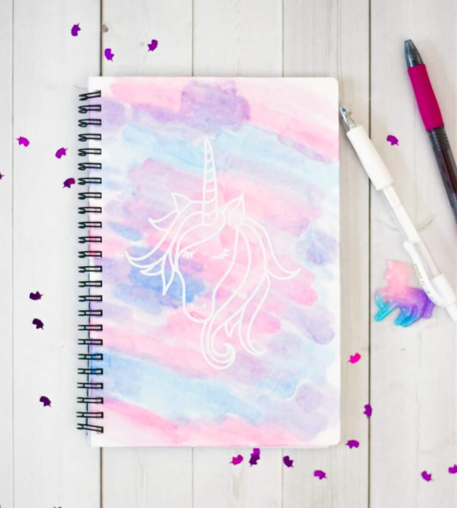 Unicorn Notebook DIY with Cricut Infusible Ink by Pineapple Paper Co.