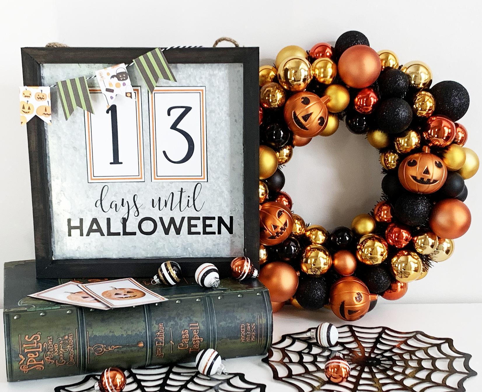 Halloween Countdown Calendar Numbers