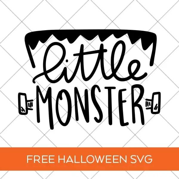 Little Monster Halloween SVG File