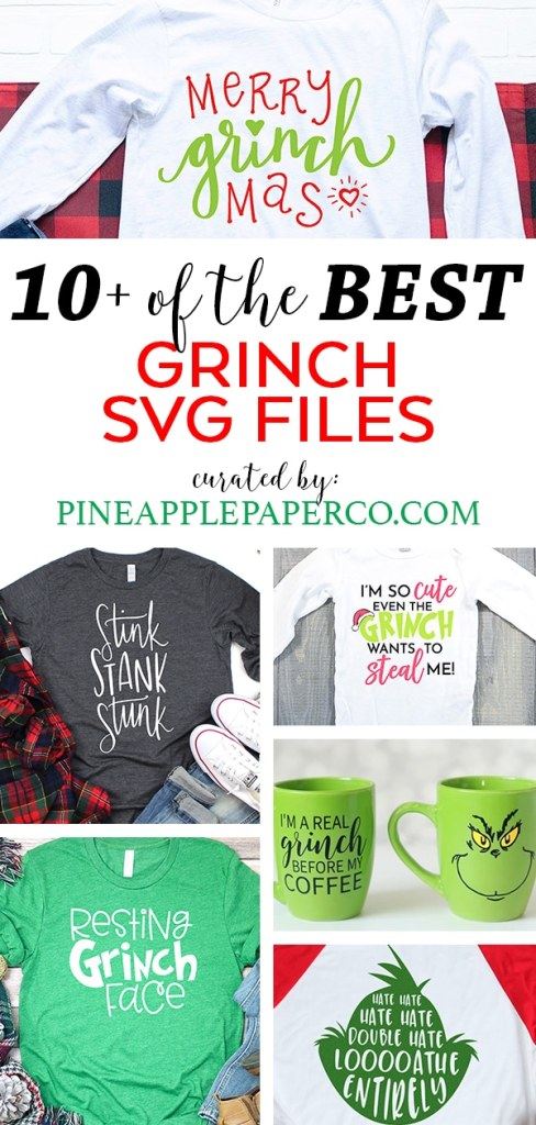 Grinch Svg Free : grinch, Grinch, Files, Pineapple, Paper