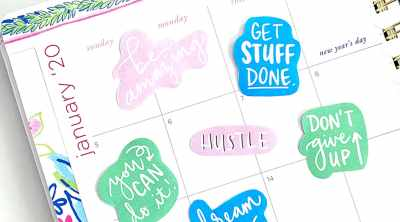 Free Motivational Printable Planner Stickers by Pineapple Paper Co.