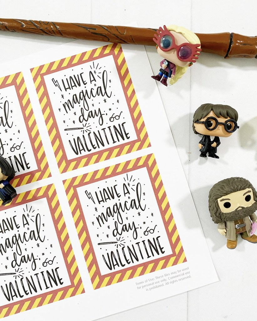 Harry Potter Valentines - Free Printable by Pineapple Paper Co.