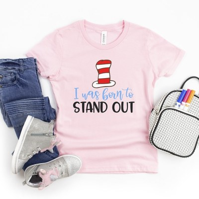 I Was Born to Stand Out Dr. Seuss Quote SVG