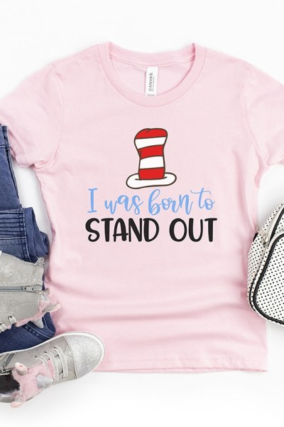 Free Dr. Seuss Quote SVG Born to Stand Out by Pineapple Paper Co.