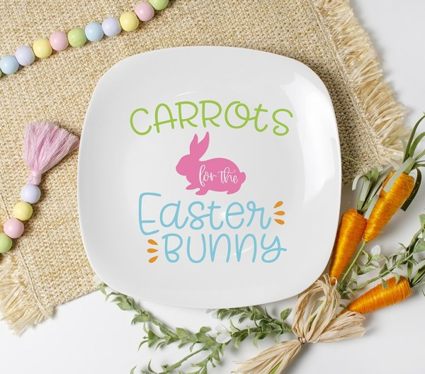 Carrots for the Easter Bunny SVG to Make an Easter Bunny Plate by Pineapple Paper Co.