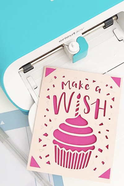 How to Make a DIY Greeting Card with the Cricut Joy and Cricut Card Mat by Pineapple Paper Co.