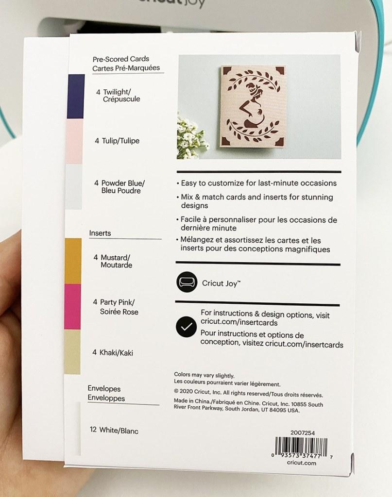 Cricut Joy Card Blanks
