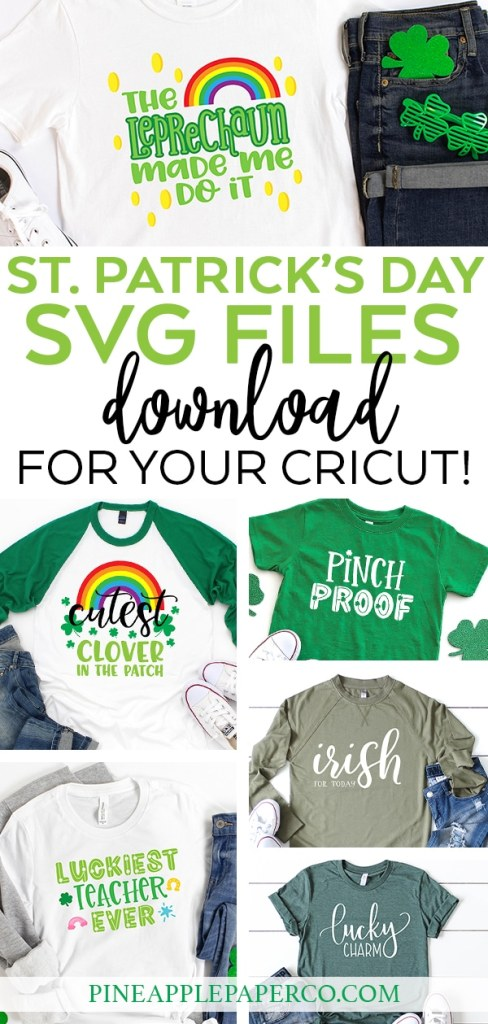 The BEST St. Patrick's Day SVG Files for Cricut & Silhouette by Pineapple Paper Co.