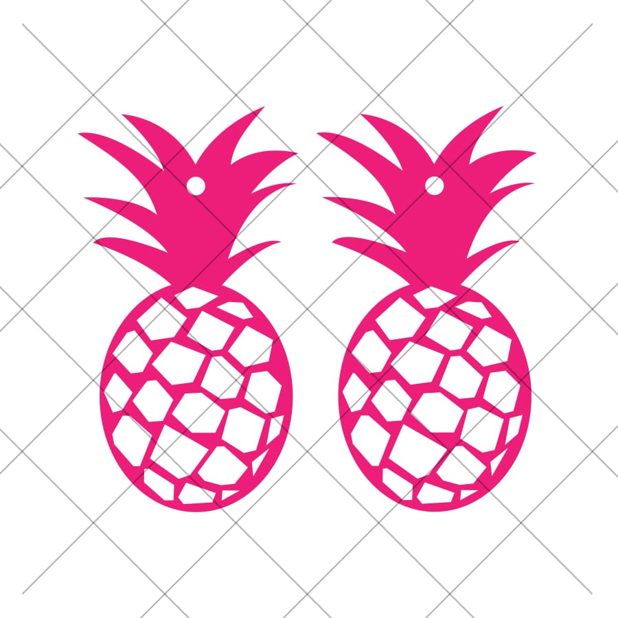 DIY Pineapple Earrings with Free Earring SVG Download by Pineapple Paper Co.