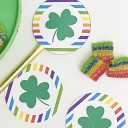 Rainbow Shamrock Printable Cupcake Toppers