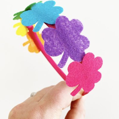 DIY Rainbow Shamrock Felt Headband