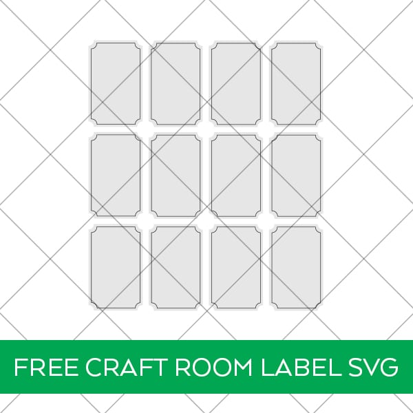 Cricut Craft Room Labels with FREE SVG Download by Pineapple Paper Co.