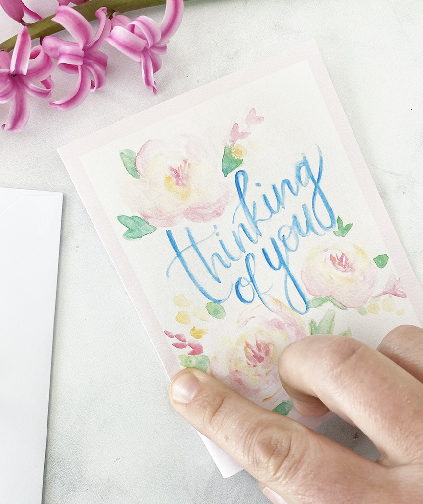 It's just an image of Breathtaking Printable Thinking of You Card