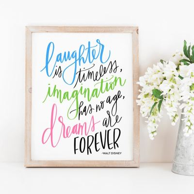 Free Inspiring Disney Quote SVG and Printable