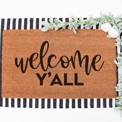 Welcome Y'all Doormat SVG File