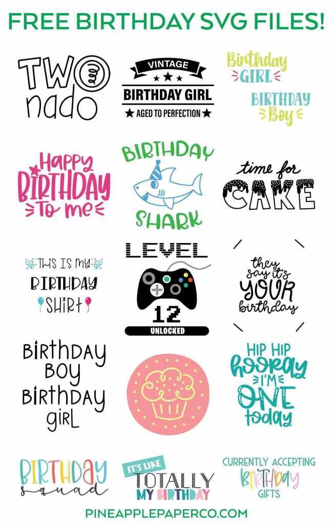 Free Birthday Shark Svg File Pineapple Paper Co