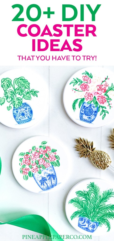 DIY Coasters curated by Pineapple Paper Co.
