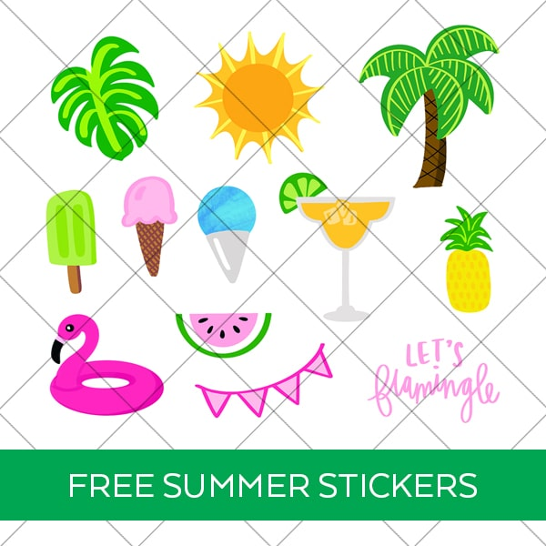 Printable Summer Stickers for Planners and Craft Projects by Pineapple Paper Co.