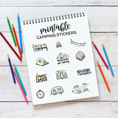 Free Printable Camping Stickers