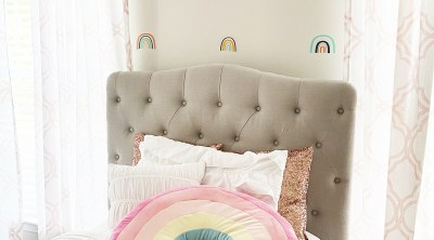 DIY Rainbow Wall Decals with the Cricut Joy by Pineapple Paper Co.