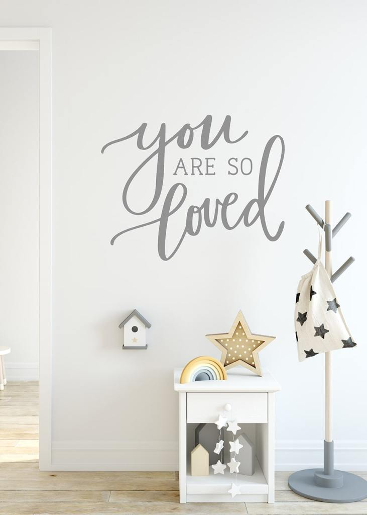 You Are So Loved SVG Nursery Wall Decal