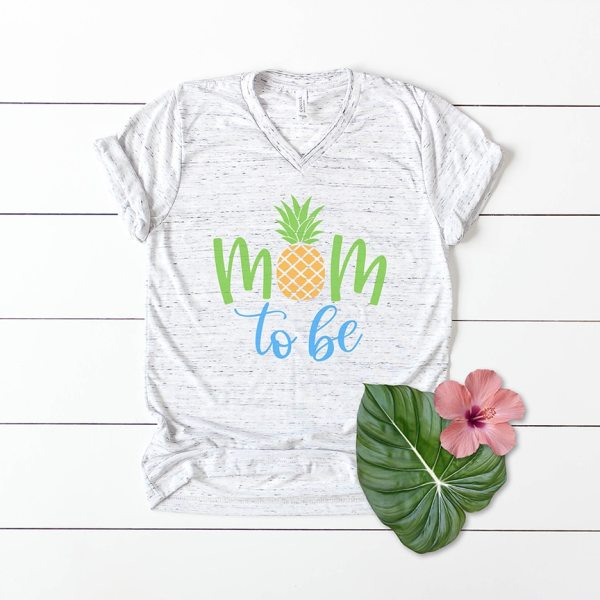Mom to Be Pineapple Shirt for Baby Shower with SVG by Pineapple Paper Co.