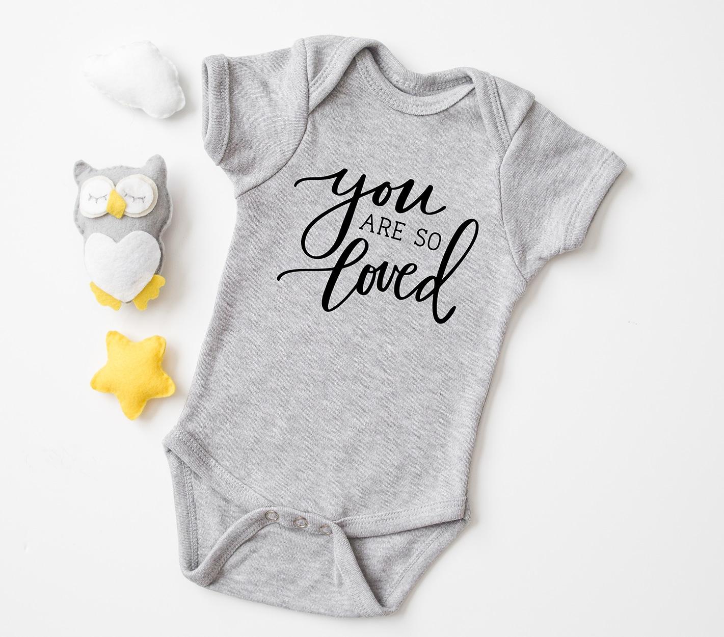 Loved SVG Nursery svg newborn svg file Baby svg file for onesie Love SVG N48