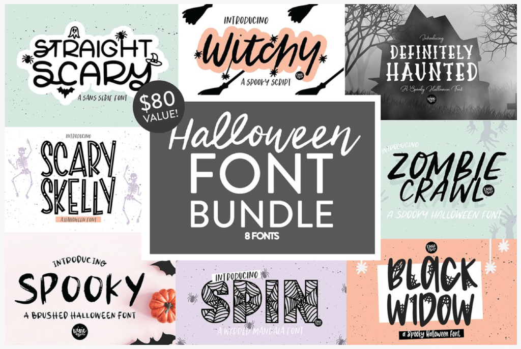 2020 Halloween Font BEST Halloween Fonts for Crafts and Printables   Pineapple Paper Co.