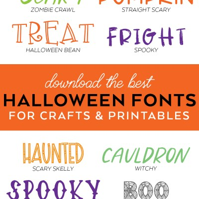 Halloween Fonts for Crafts and Printables