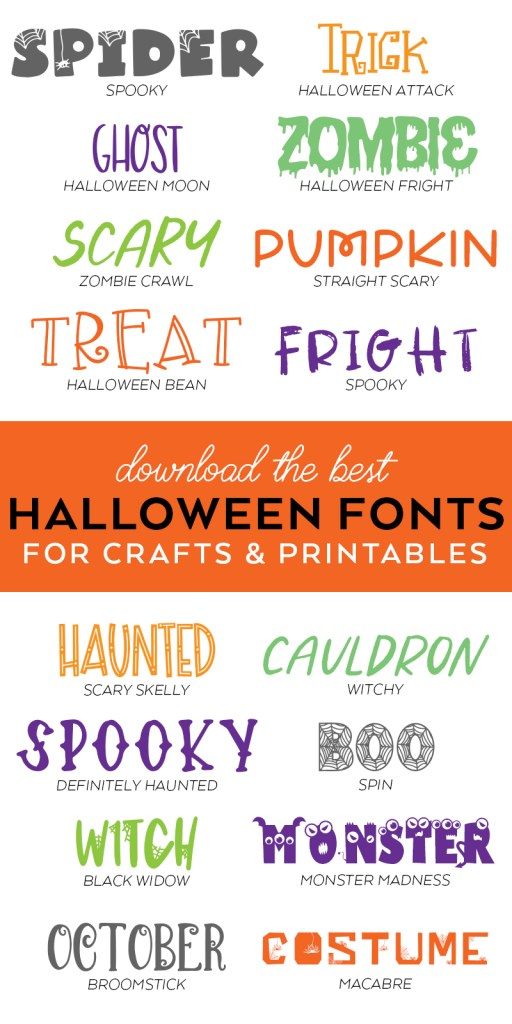 Cheap Commercial Use Halloween Fonts