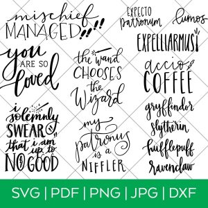 Harry Potter SVG Bundle by Pineapple Paper Co.