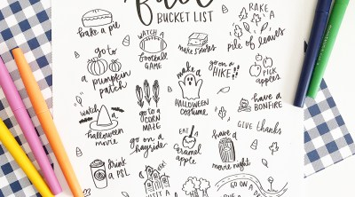 Free Printable Fall Bucket List Coloring Page