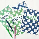 Printable STEM Notebook Covers