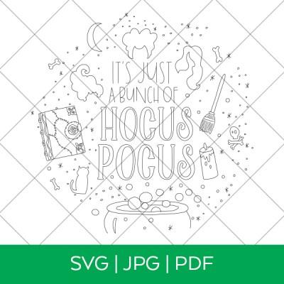 Hocus Pocus Single Line Draw SVG