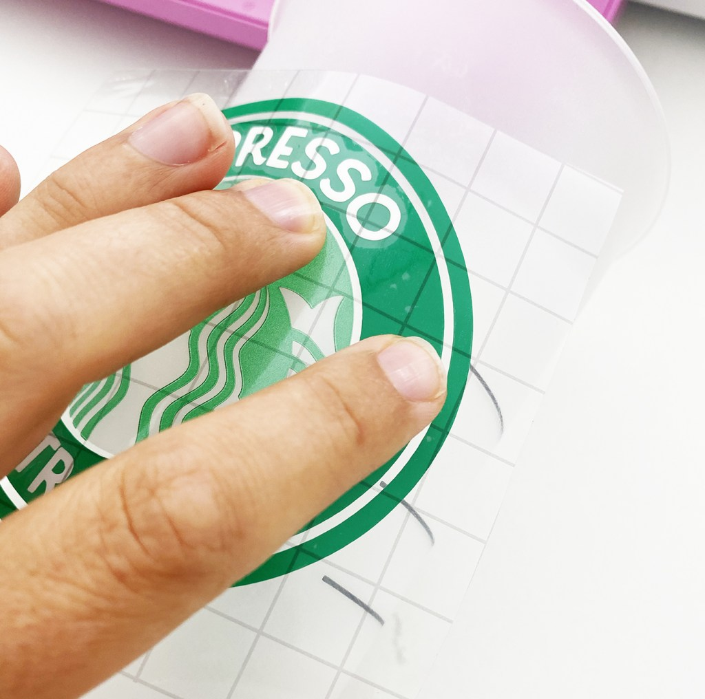Applying Free Harry Potter Espresso Patronum Starbucks SVG to Starbucks Cold Cup