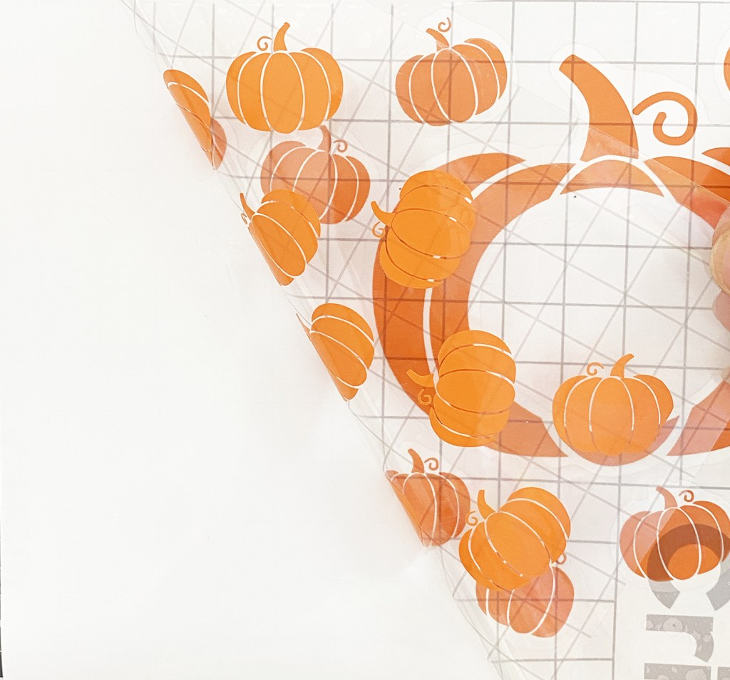 Pumpkin Starbucks Cup Wrap on Transfer Tape