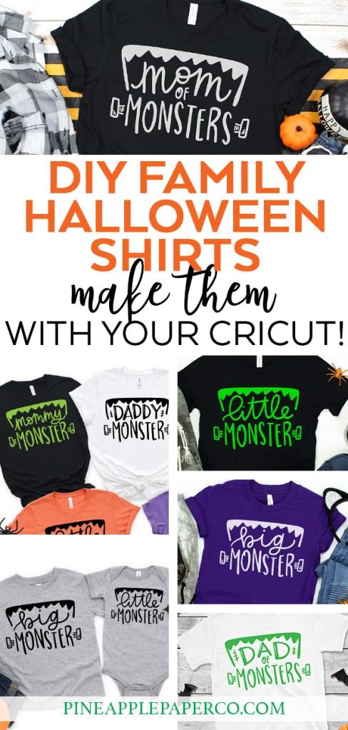 DIY Family Halloween Shirt Ideas with your Cricut