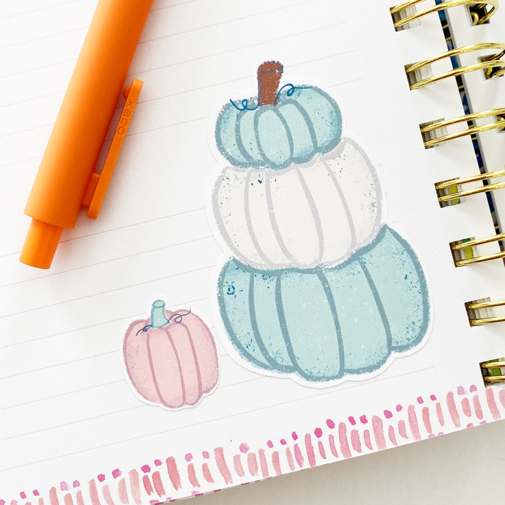 Free Printable Pumpkin Stickers by Pineapple Paper Co.