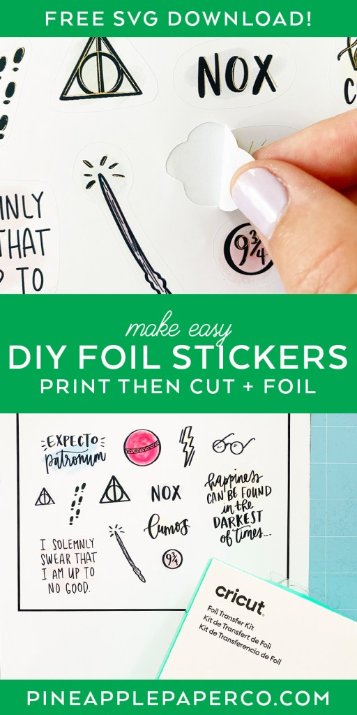 Make Easy DIY Foil Stickers with Cricut Print then Cut and Foil Transfer System